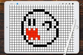 DIY – How To Draw Ghost Boo Super Mario Pixel Art with iPad Pro and Procreate 8 bit tutorial 4k