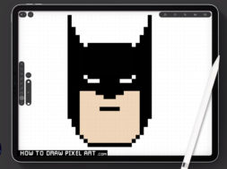 How To Draw BATMAN easy (Pixel Art) Step-by-Step Tutorial