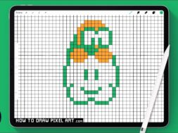 HOW TO DRAW MARIO BROS LATIKU CLOUD KOOPA (PIXEL ART) TUTORIAL  Exemplaire